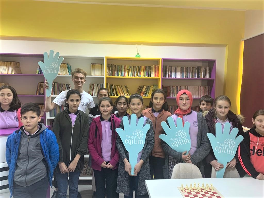 We opened our third library at the Tastepe Primary-Secondary School in Trabzon, Arakli.